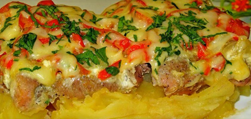 М'ясо з овочами в духовці, рецепт приготування