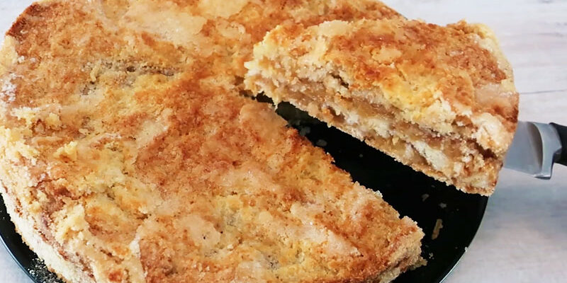 Насипний яблучний пиріг - рецепт приготування