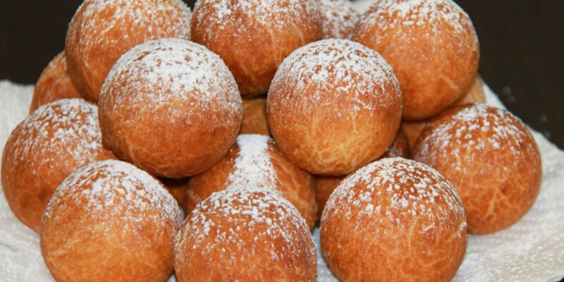 Сирні пончики - рецепт приготування