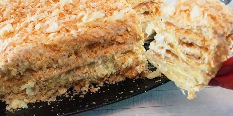 Швидкий торт Наполеон - рецепт приготування