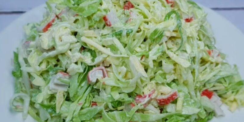 Новий салат з капусти - рецепт приготування