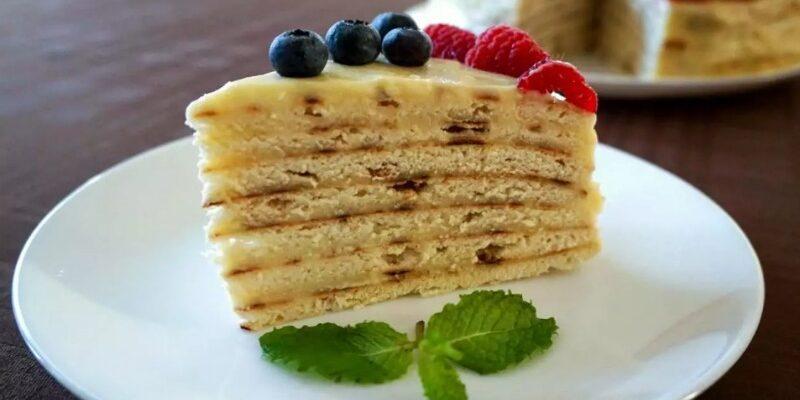 Торт з заварним кремом - рецепт приготування