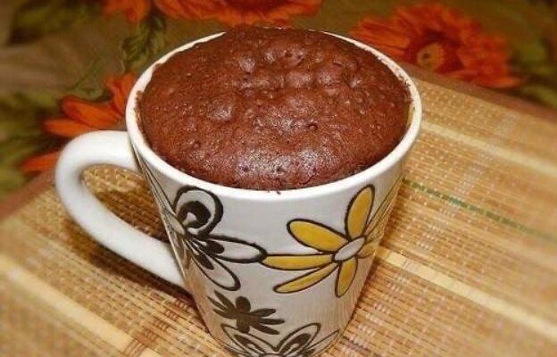 Шоколадний кекс в мікрохвильовці - рецепт