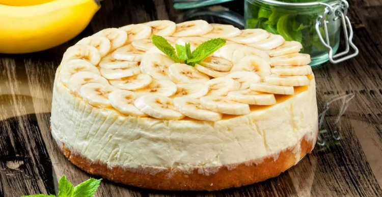 Банановий торт без випічки - рецепт приготування