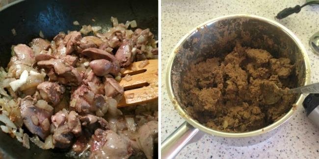 Рум'яні смажені пиріжки з картопляно-печінковою начинкою