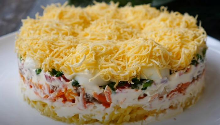 Салат «Кучугури» на святковий стіл. Смачний і гарний салат на свято