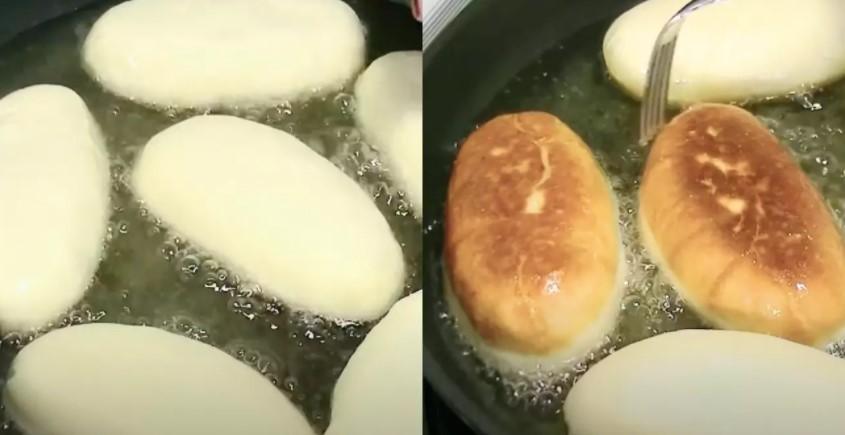 Повітряні пиріжки «як пух» з цибулею і яйцем з пишного і м'якого тіста