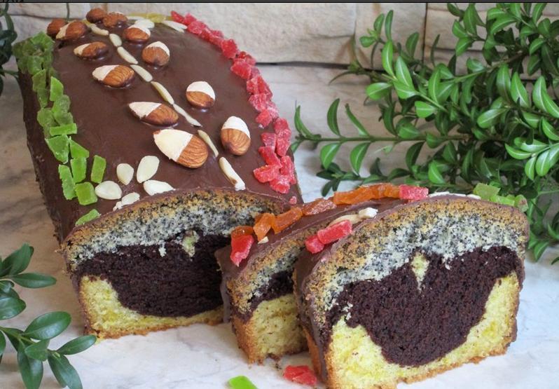 """Кекс """"Тріо"""": поєднання ніжного бісквіту, какао і маку сподобається і дітям, і дорослим"""